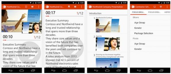 Office Remote: Mit der Android-App könnt ihr PowerPoint, Word und Excel fernsteuern. (Screenshot: Play-Store)