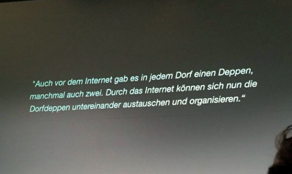 """Frei nach Jörg Kachelmann: """"Auch vor dem Internet gab es in jedem Dorf einen Deppen, manchmal auch zwei. (Foto: @Fynni / Twitter)"""
