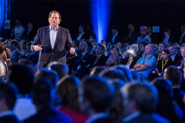 Salesforce-CEO Marc Benioff in München, während der Salesforce-World-Tour. (Foto: Salesforce)