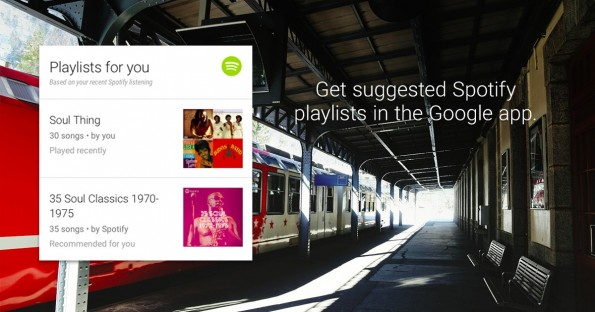 Google Now: Auch Spotify bekommt eine eigene Karte. (Grafik: Spotify)