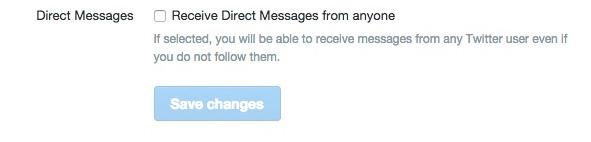 Durch Setzen dieses Hakens können Nutzer bei Twitter nun Nachrichten von beliebigen Nutzern empfangen. (Screenshot: www.twitter.com)