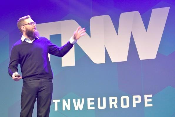 Samuel Hulick, Experte für User-Onboarding, auf der The Next Web Conference in Amsterdam. (Foto: t3n)