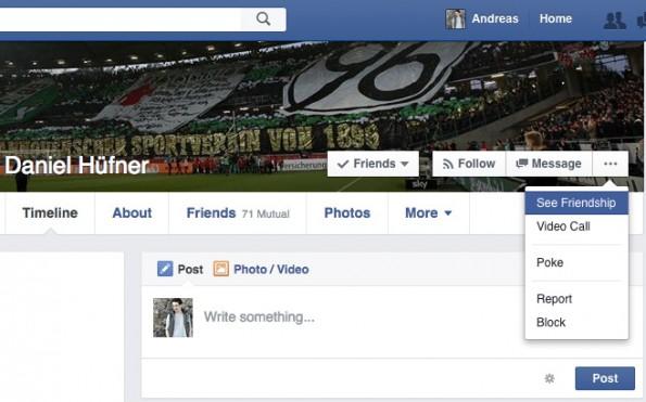 Versteckte Facebook-Funktionen: Gemeinsamkeiten. (Screenshot: t3n.de)