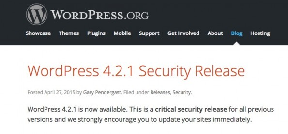 Auf wordpress.org steht bereits ein Update bereit – Installation dringend empfohlen! (Screenshot: wordpress.org)