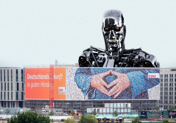 """""""Deutschlands Zukunft in guten Händen!"""" – das Netz war von Anfang an skeptisch. (Grafik: Merkelraute.tumblr.com)"""