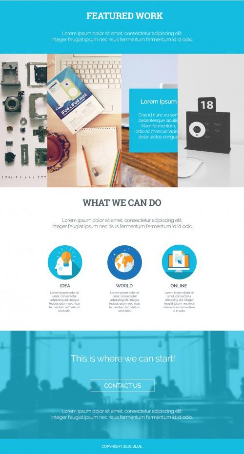 Blue Landing Page Single-Page Web-Template