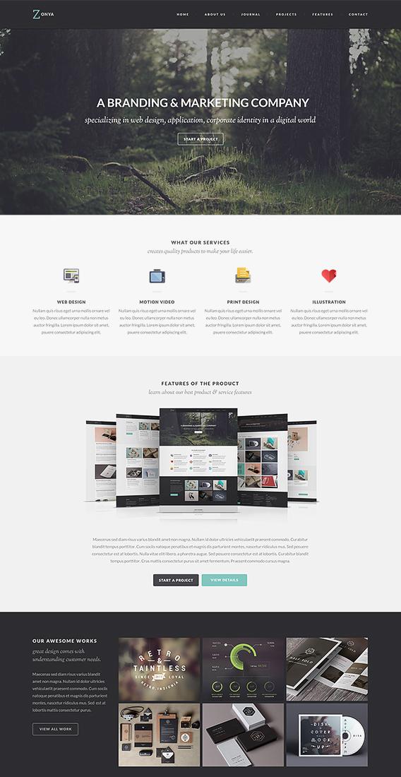 Zonya Free Homepage PSD Web-Template