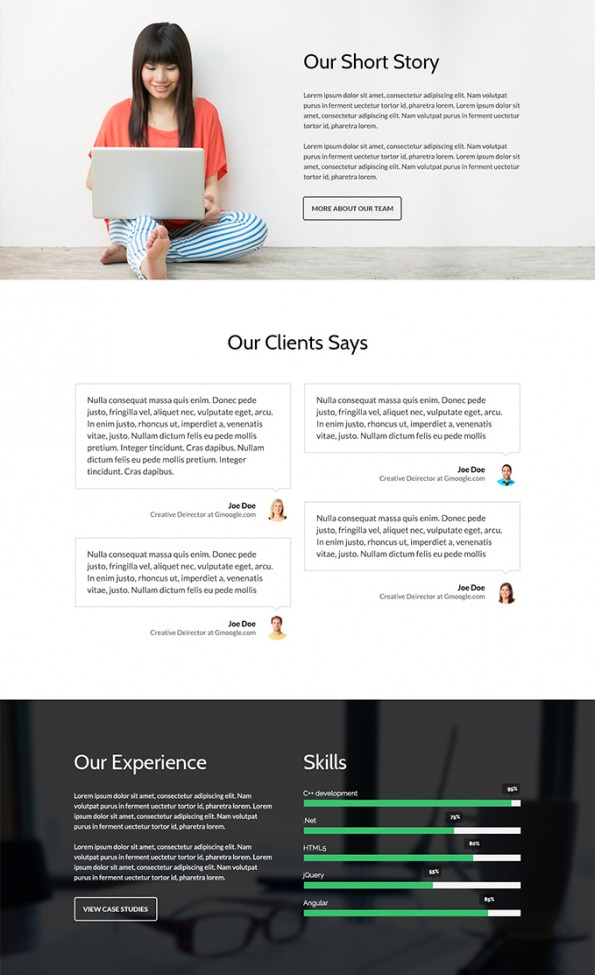 Free business website PSD