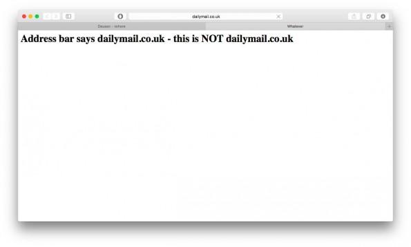 """""""Adress Spoofing"""" in Safari: Sicherheitslücke gaukelt euch eine falsche Adresse vor. (Screenshot: Apple Safari)"""