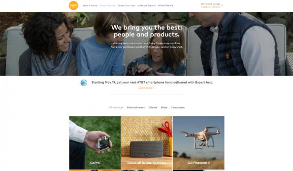 Enjoy will als Onlineshop für Konsumelektronik mit Service punkten. Gründer und CEO ist der ehemalige Chef von Apples Retail-Sparte. (Screenshot: t3n)