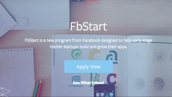 Wer die Startup-Leistungen von Facebook in Anspruch nehmen will, kann sich bei FbStart bewerben. (Bild: Screenshot)