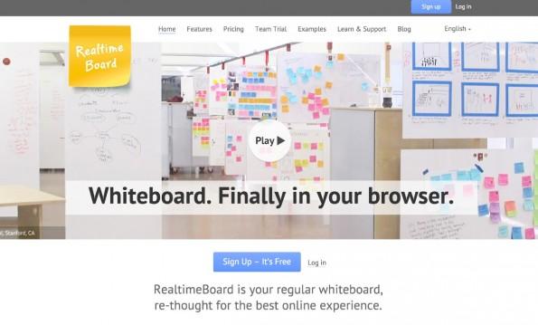 Kostenlose Tools für Startups: Mit Realtime Board steht Gründern ein virtuelles Whiteboard zur Verfügung. (Screenshot: realtimeboard.com)