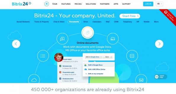 Bitrix24 kann von kleinen Teams umsonst genutzt werden. (Screenshot: Bitrix)