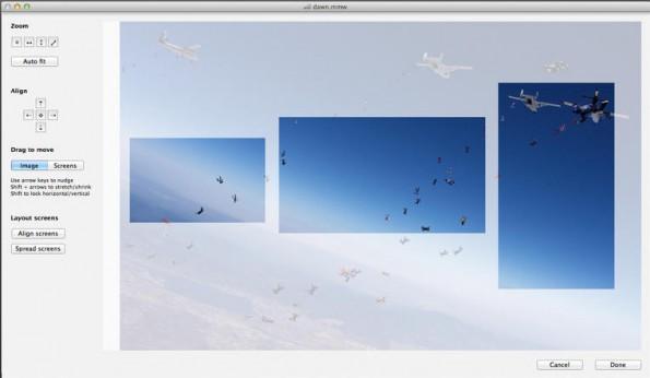 Multi-Screen-Wallpaper: Diese Mac-App hilft euch bei der Einrichtung. (Screenshot: Multi Monitor Wallpaper)