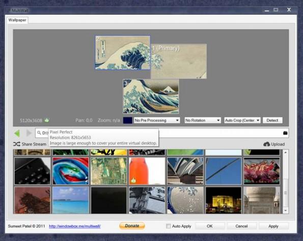 Multi-Screen-Wallpaper: Windows-8-Nutzer können die kostenlose App MultiWall verwenden. (Screenshot: MultiWall)