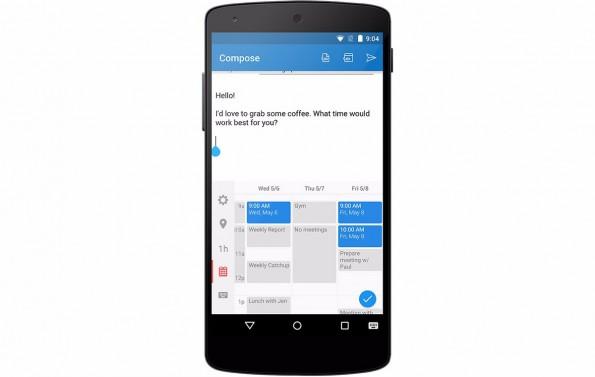 Sunrise Meet macht aus dem Software-Keyboard eures Smartphones einen Kalender. (Grafik: Sunrise)