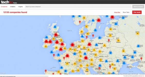 Die Vermessung der europäischen Startup-Landschaft: Daran versucht sich die neue Datenbank Tech.eu Radar.