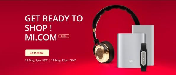 Startet heute Abend: Der Xiaomi-Onlineshop für die USA und Europa. Screenshot: mi.com)