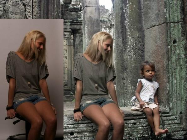 Schreibtischstuhl statt Angkor Wat – mit Photoshop kein Problem. (Foto: Zilla van den Born)