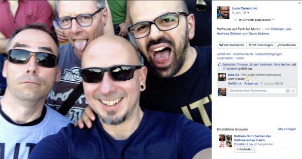 """Mit Freunden auf einem Konzert und es der """"Welt"""" mitteilen (Foto: Luca Caracciolo)"""