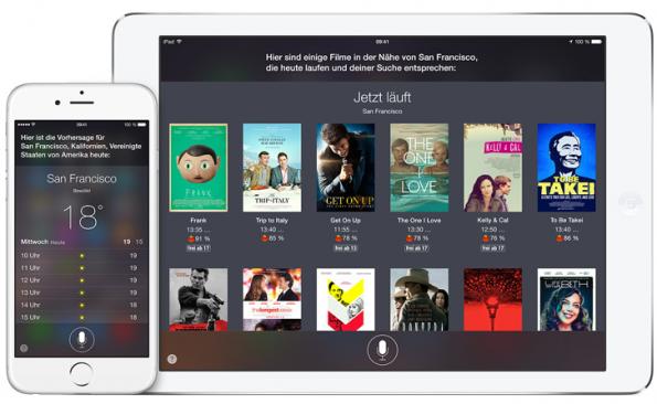 Wetteranzeige und Auswahl des örtlichen Kinoprogramms sind nur der Anfang: In Zukunft werden Siri, Google Now und Co ganze Aufgabenketten erledigen. (Bild Apple)