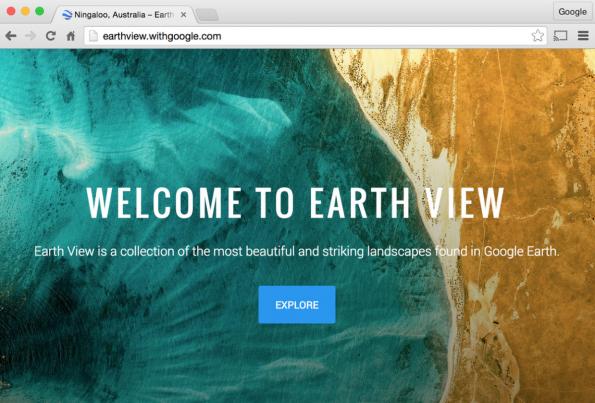 Google Earth View bietet wunderschöne Landschaften. (Screenshot: Google)