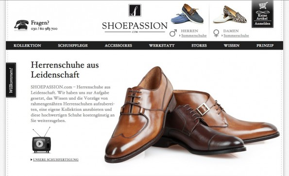 (Screenshot: Shoepassion.com)