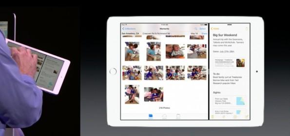 iOS 9: iPad-Nutzer können zukünftig zwei Apps parallel nutzen. (Screenshot: Apple.com)