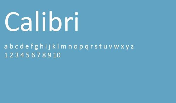 Die 5 besten Schriftarten für eine Bewerbung – Calibri.