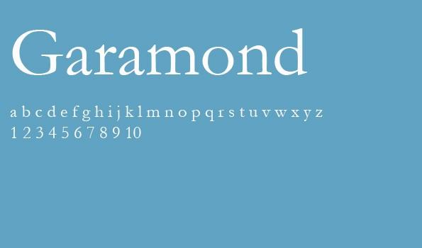 Die 5 besten Schriftarten für eine Bewerbung – Garamond.