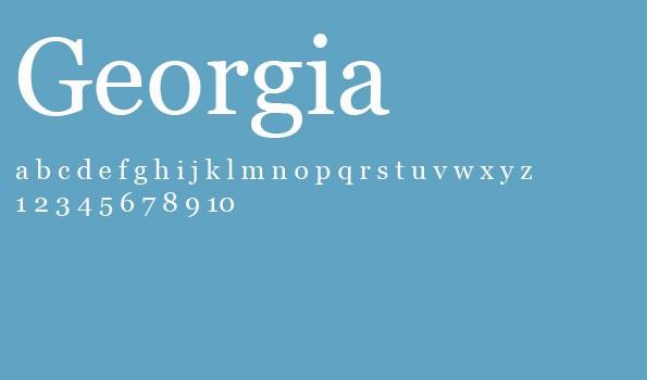 Die 5 besten Schriftarten für eine Bewerbung – Georgia.