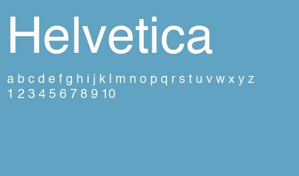 Die 5 besten Schriftarten für eine Bewerbung – Helvetica.