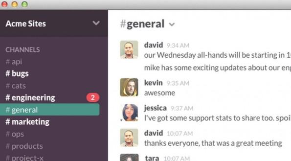 Verschieden Kunden lassen sich in verschiedenen Slack-Threads organisieren. Die Universal-Suche macht zudem alles auffindbar. (Screenshot: Slack.com)