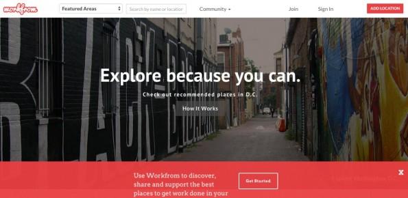 Workfrom.co hilft, neue Arbeitsplätze zu finden. Digitale Nomaden teilen ihre Spots. (Screenshot: Workfrom.co)