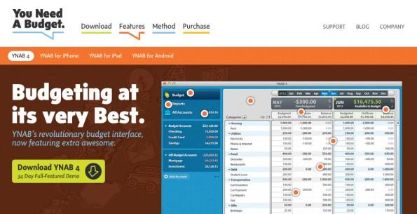 Finanzen lassen sich hervorragend über You Need A Budget planen. Es gibt sowohl eine Web- als auch App-Version für unterwegs. (Screenshot: Youneedabudget.com