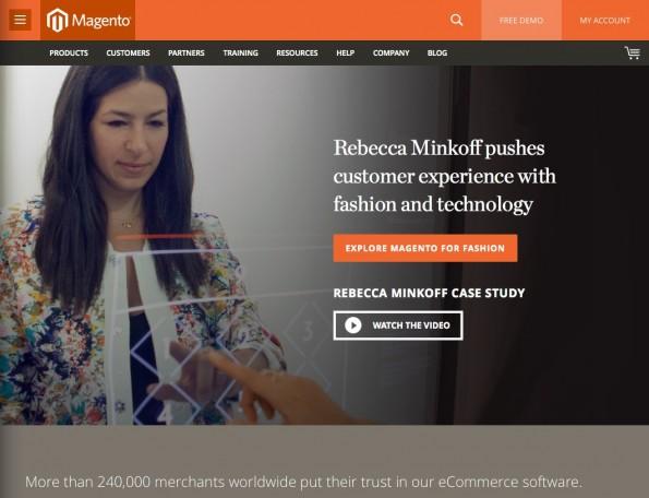 Das Open-Source-Shopsystem Magento gehört zu den weltweit am weitesten verbreiteten Shopsystemen und verfügt über eine lebendige Community. (Screenshot: Magento)