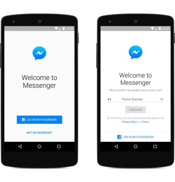 Facebook Messenger: Zur Anmeldung wird zukünftig kein Facebook-Konto mehr benötigt. (Grafik: Facebook)