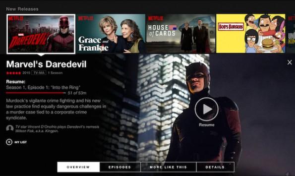 Mit Eigenproduktionen wie Daredevil will Netflix sich im Streaming-Markt Wettbewerbsvorteile verschaffen. Auch Amazon hat mit der Produktion eigener Inhalte begonnen. (Foto: Netflix)