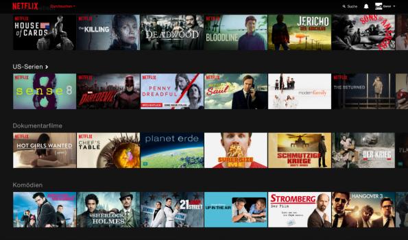 So sieht das neue Netflix aus. (Screenshot: t3n)