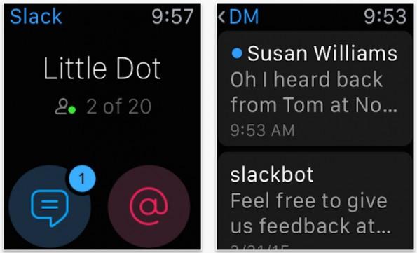 Slack: Auch der Team-Messenger unterstützt die Apple Watch. (Screenshot: App-Store)