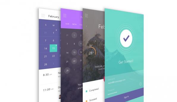 Mehr als 250 Design-Elemente, 130 Grafiken und zehn Templates sind in dem UI-Kit zur Gestaltung einer To-do-App enthalten. (Screenshot: t3n)