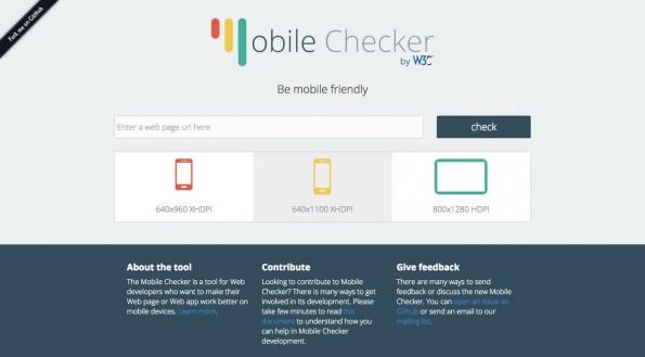 W3C Mobile Checker: Mit dem Tool könnt ihr eure Webseiten testen. (Screenshot: w3c.org)