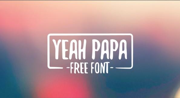 Kostenlose Fonts: Yeah Papa. (Grafik: Rafa Miguel)