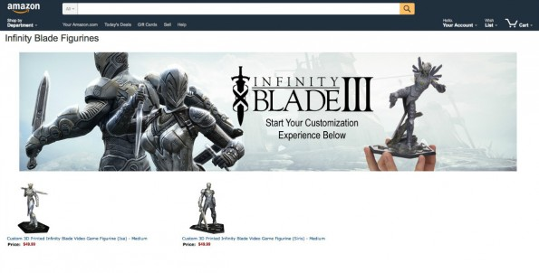 Amazon erweitert 3D-Druck-Shop um selbst designbare Videospielfiguren. (Screenshot: Amazon)