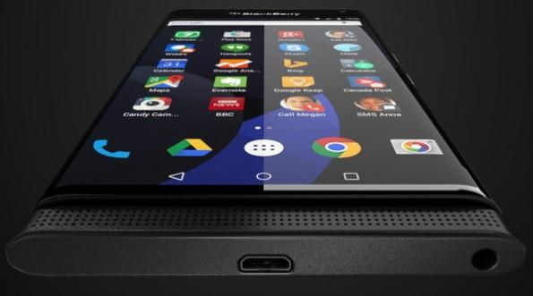 So soll das erste Android-Smartphone von BlackBerry aussehen. (Foto: @evleaks/Evan Bless)
