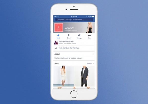 Wie ein Mini-Schaufenster: Facebook testet neue Shopping-Funktion – hier die mobile Ansicht. (Grafik: Facebook)