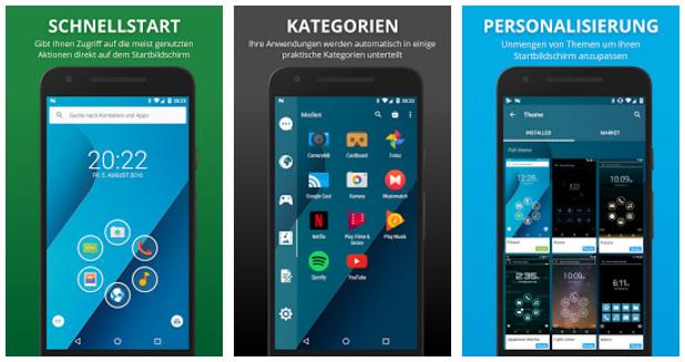 Smart Launcher 3: Cleverer Android-Launcher mit Gestensteuerung und aufgeräumter Oberfläche.