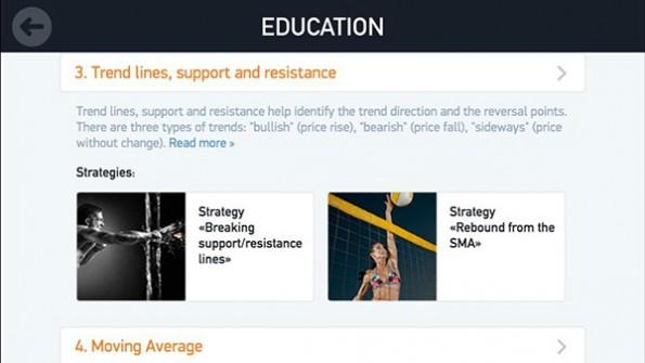 In der Regel bieten die Anbieter noch zusätzliche Beratung und Trainings an. (Screenshot: iQ Option)