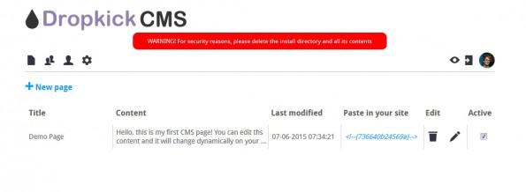 So sieht der erste Login in das Dropkick-CMS-Backend aus. (Screenshot: Eigene Dropkick-CMS-Installation)
