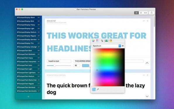 Die Schriftgröße und -farbe können angepasst werden, um bei der Font-Auswahl besser vergleichen zu können. (Screenshot: Typecase)